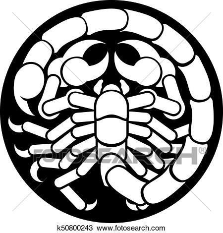Zodiac Signs Scorpio Scorpion Icon Clipart.