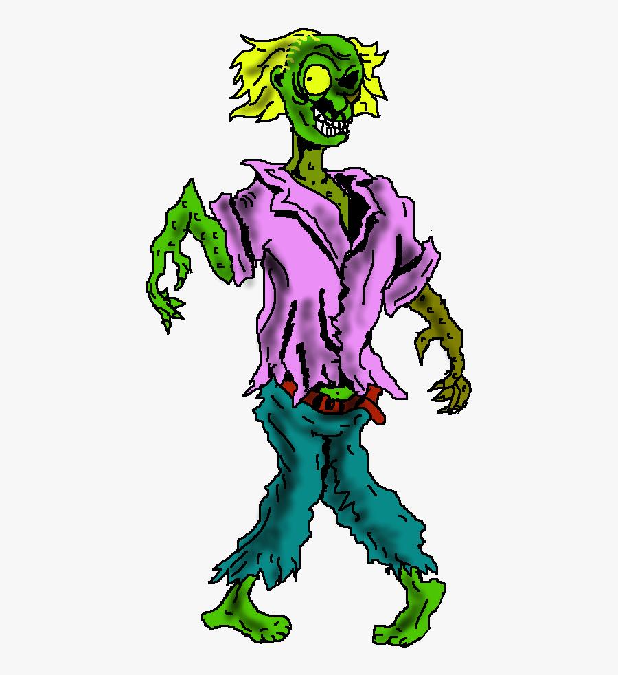 Zombie Halloween Clip Art Image.