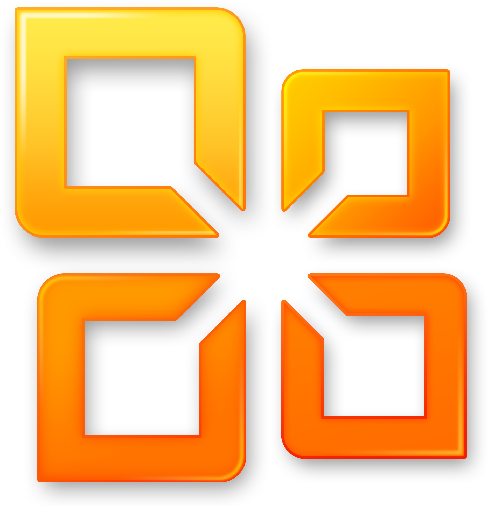 Ms Office 2010 Logo Clipart.