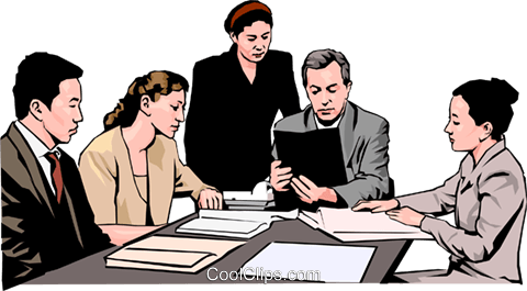 Office Meeting Clipart Image.
