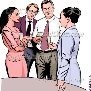 office party discussion Vector Clip art.