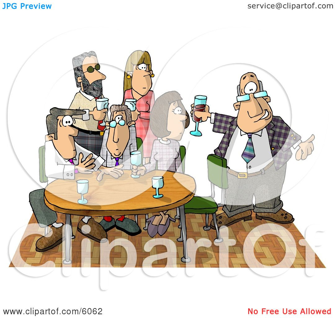 Businessman Showing Up Late to an Office Party Clipart Picture by.