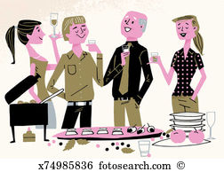 Office party Illustrations and Clipart. 886 office party royalty.