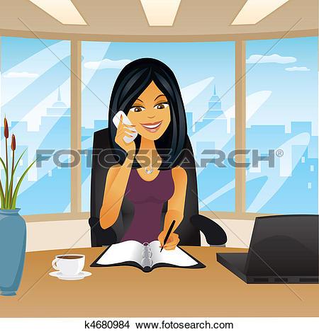 Bürotisch clipart  clipart office woman - Clipground