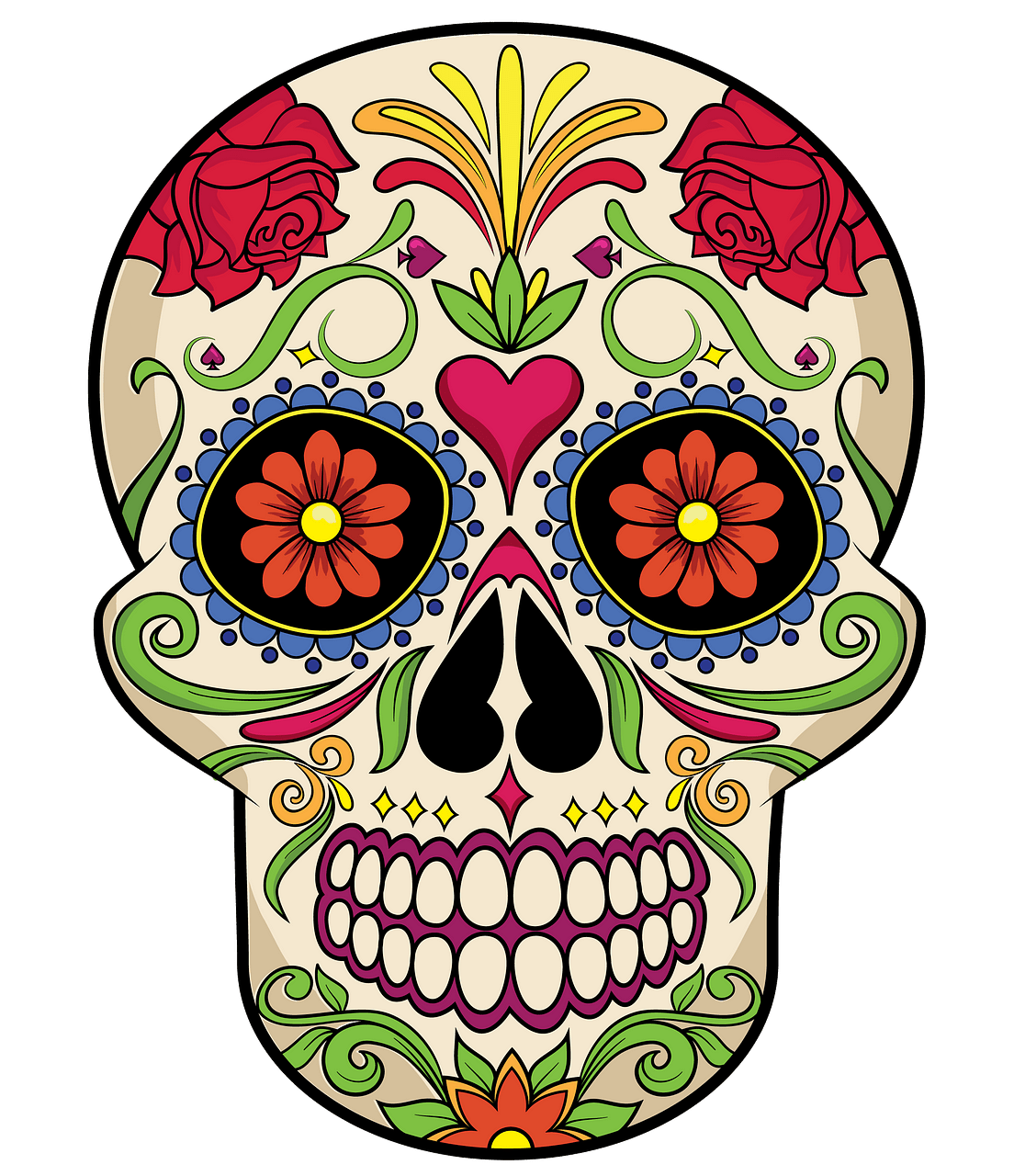 Sugar Skull clipart. Free download..