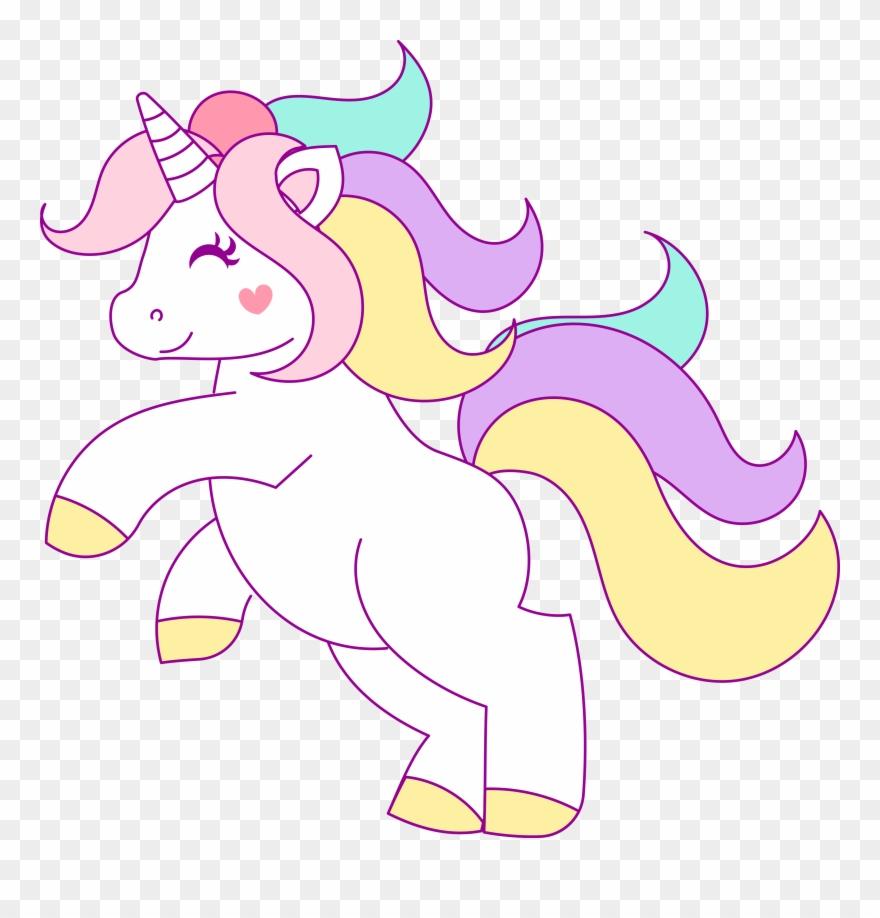 Free Hand Drawn Unicorn Clip Art.