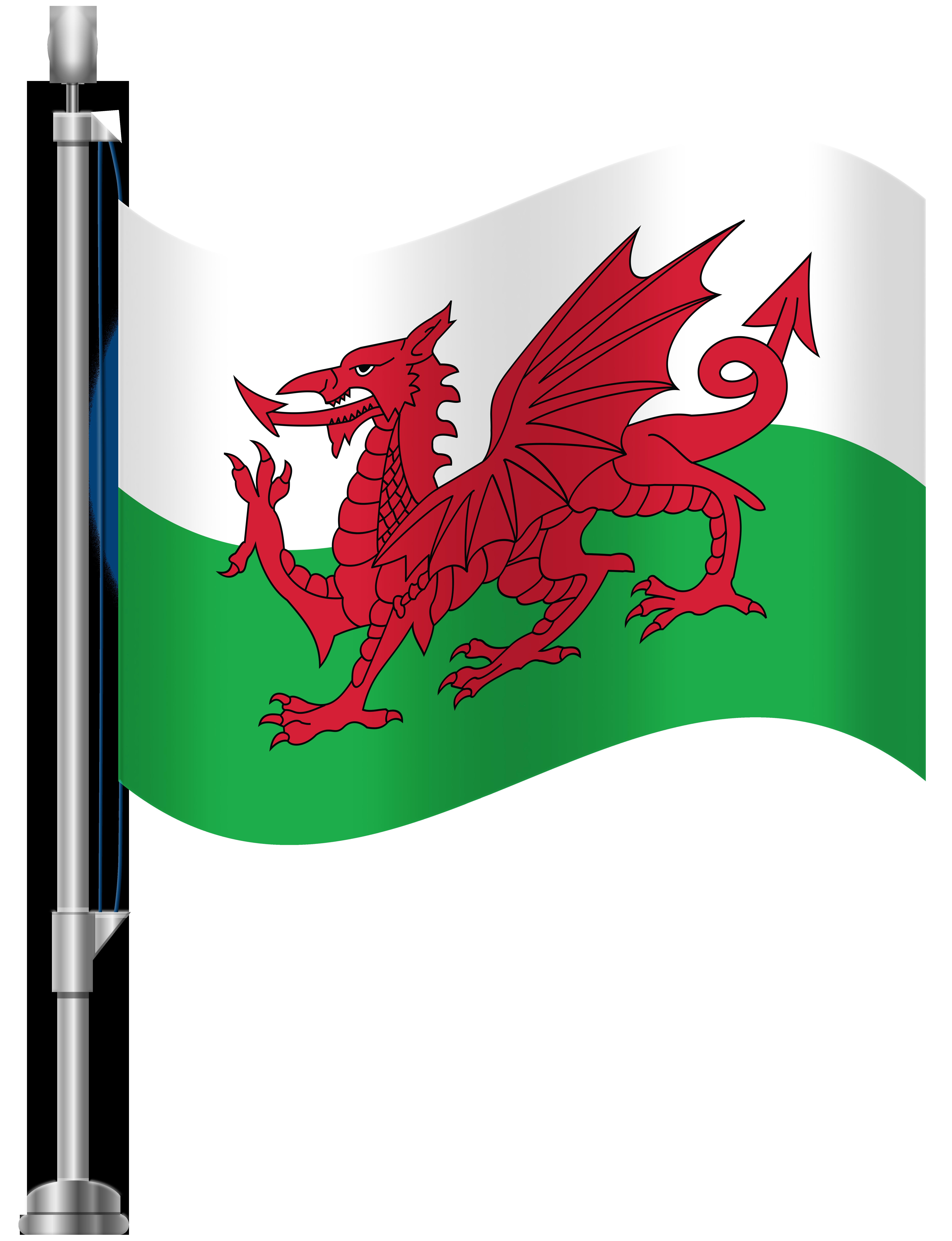 Wales Flag PNG Clip Art.
