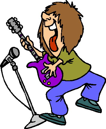 Rock Star Animation Clipart.