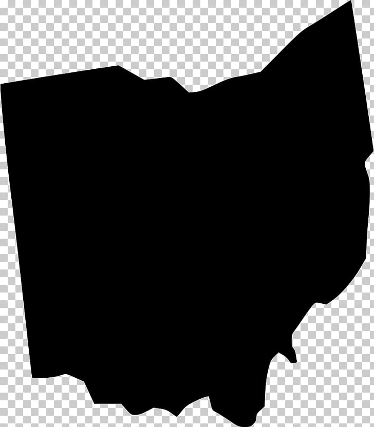 Ohio Map Line art , map PNG clipart.