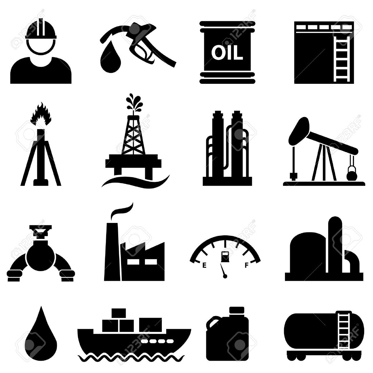oil and gas icon.