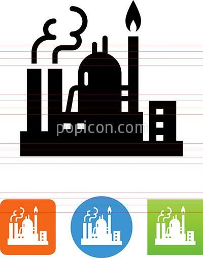 Oil And Gas Refinery Icon.