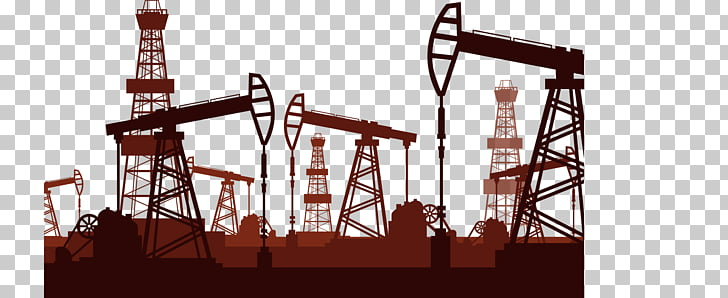 Petroleum industry Petrochemistry Icon, Brown mechanical oil.