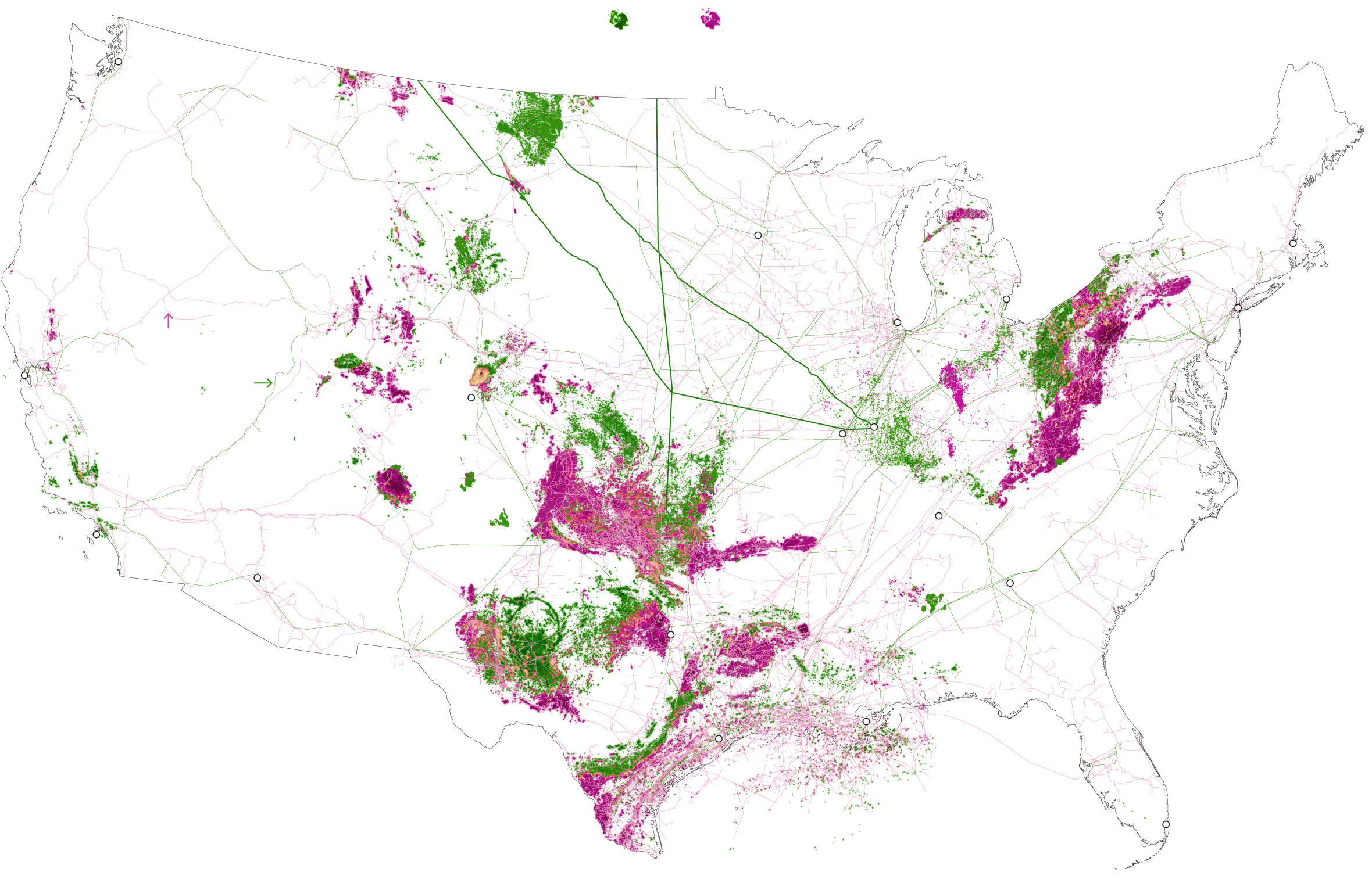 The United States of oil and gas.