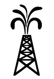 Oil Derrick Decal.
