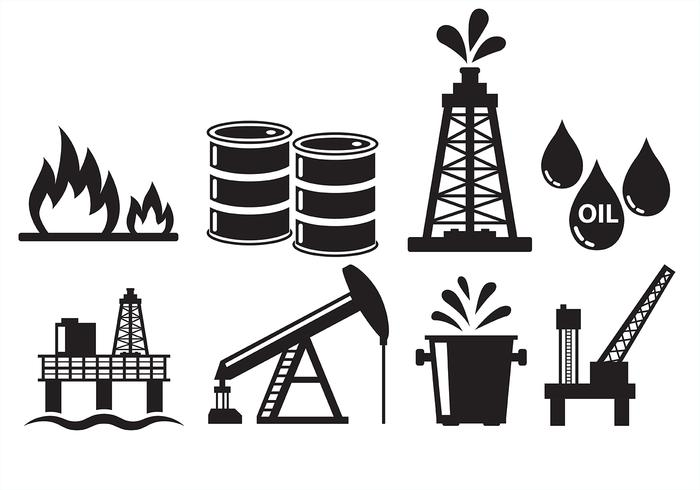 Oil Field Icons.