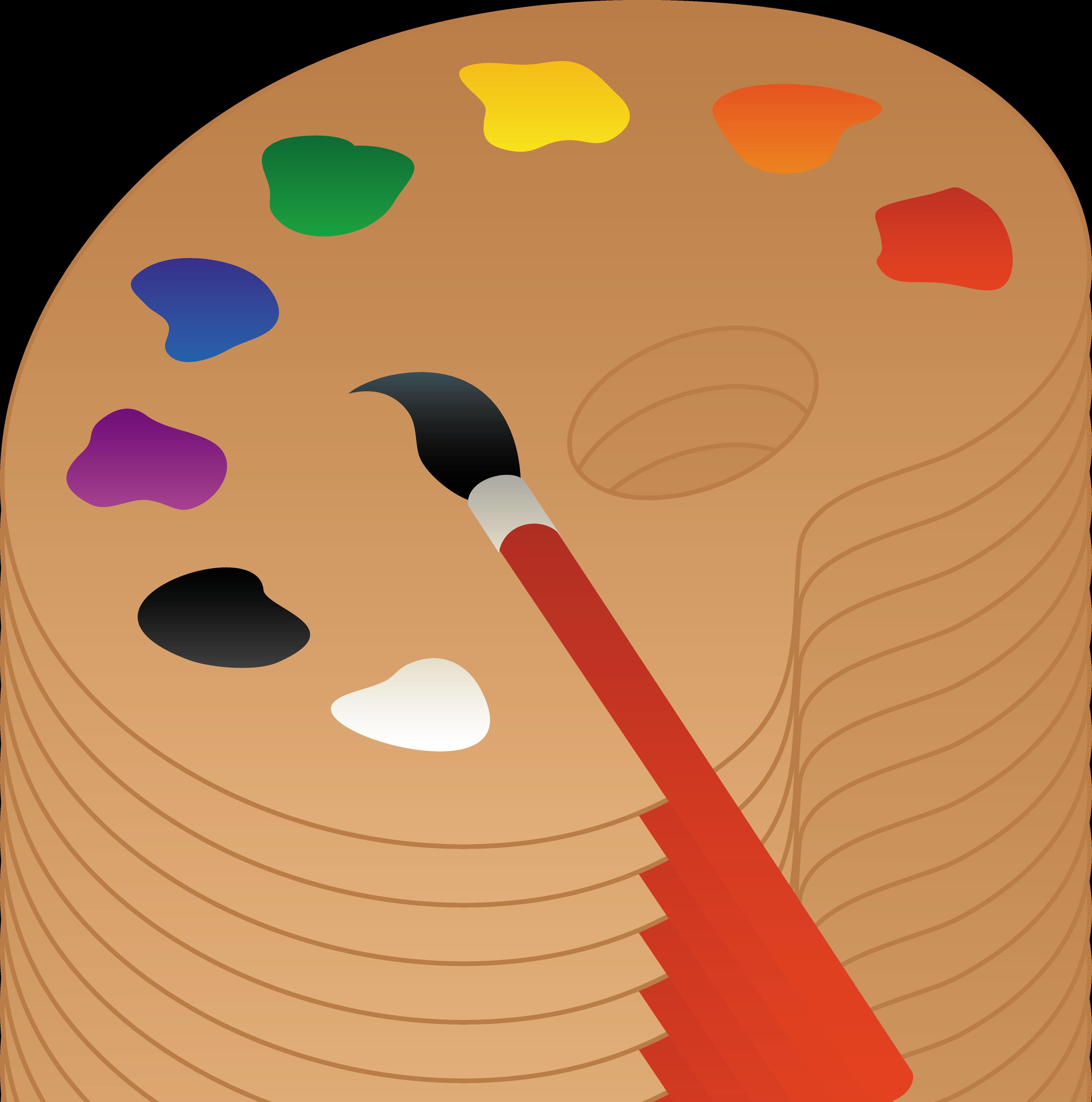 Palette Oil paint Painting Clip art.