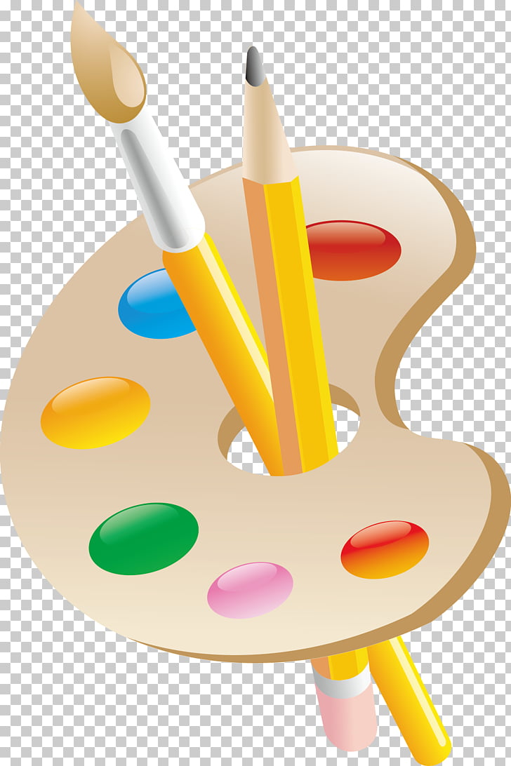 Oil painting Palette Color, Painting and paint pen PNG.