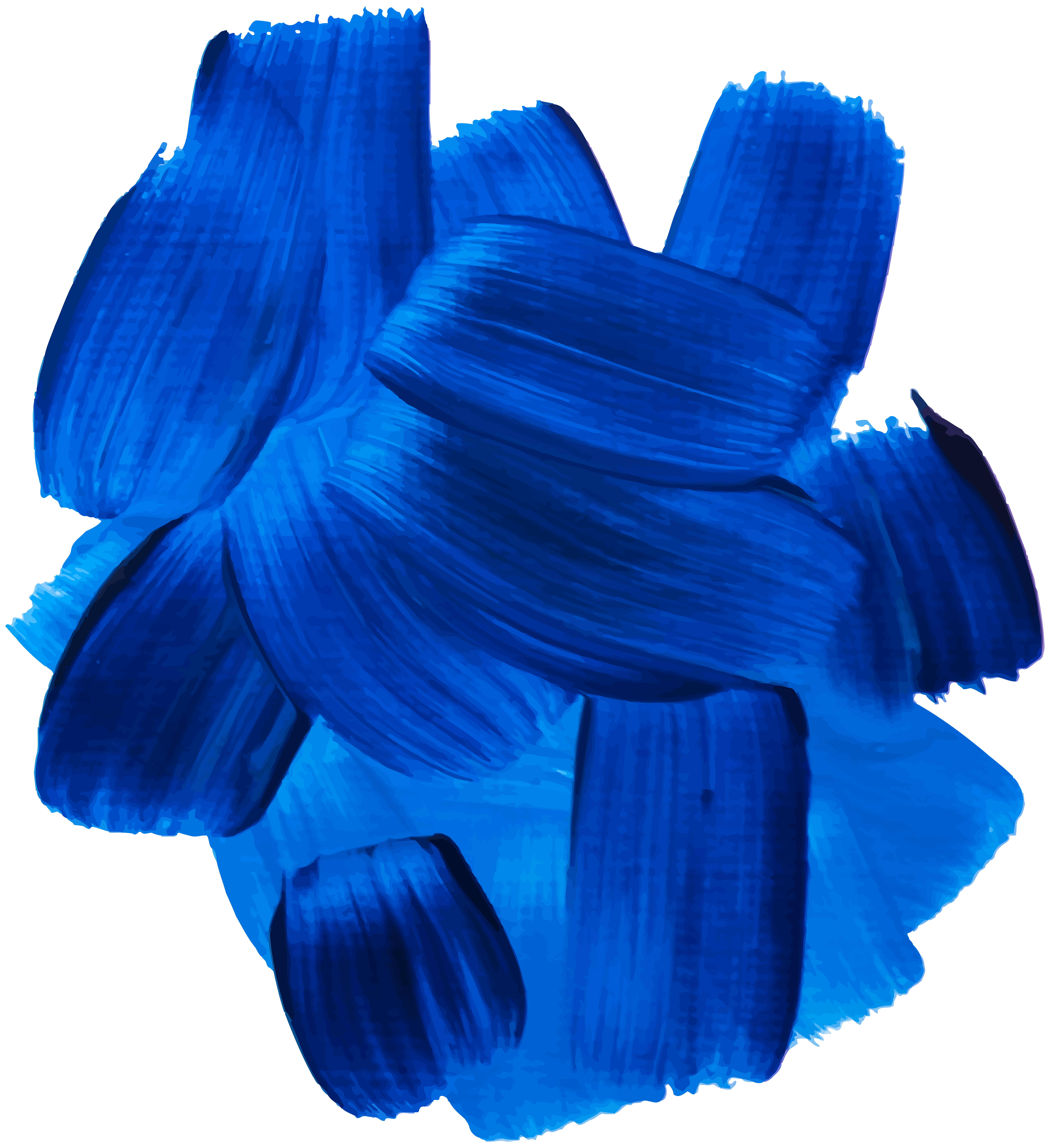 Blue Oil Paint Clip Art PNG Image.