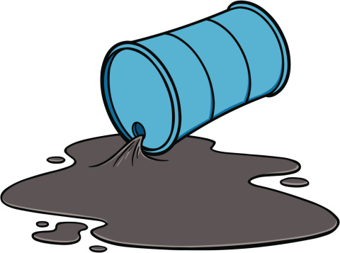 Oil leakage clipart.