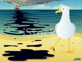 Oil Spill stock vectors.
