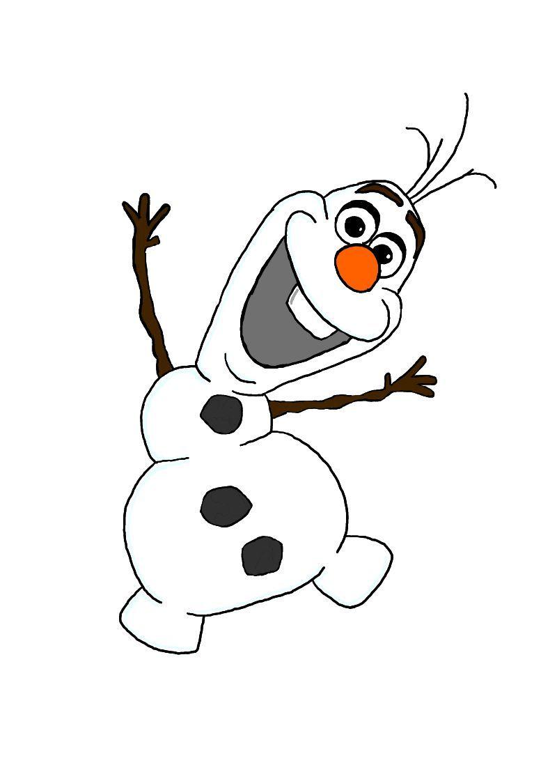 1087 Olaf free clipart.