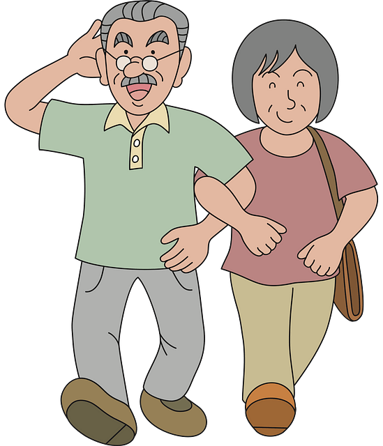 Old couple clipart. Free download..