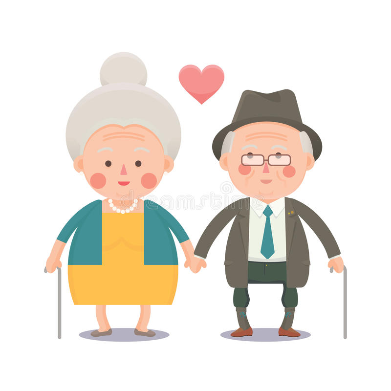 clipart old couple #2