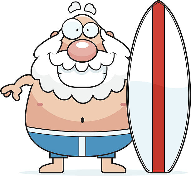 Old Man Surfing Clip Art, Vector Images & Illustrations.
