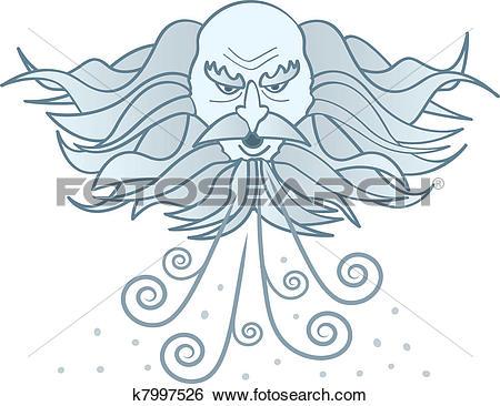 Clip Art of Old Man Winter k7997526.