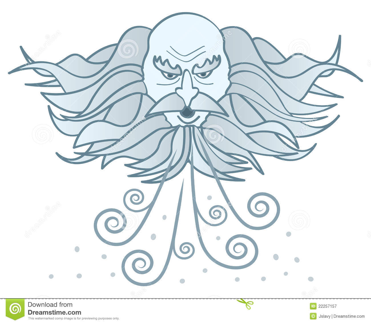 Old Man Winter Blowing Clipart.