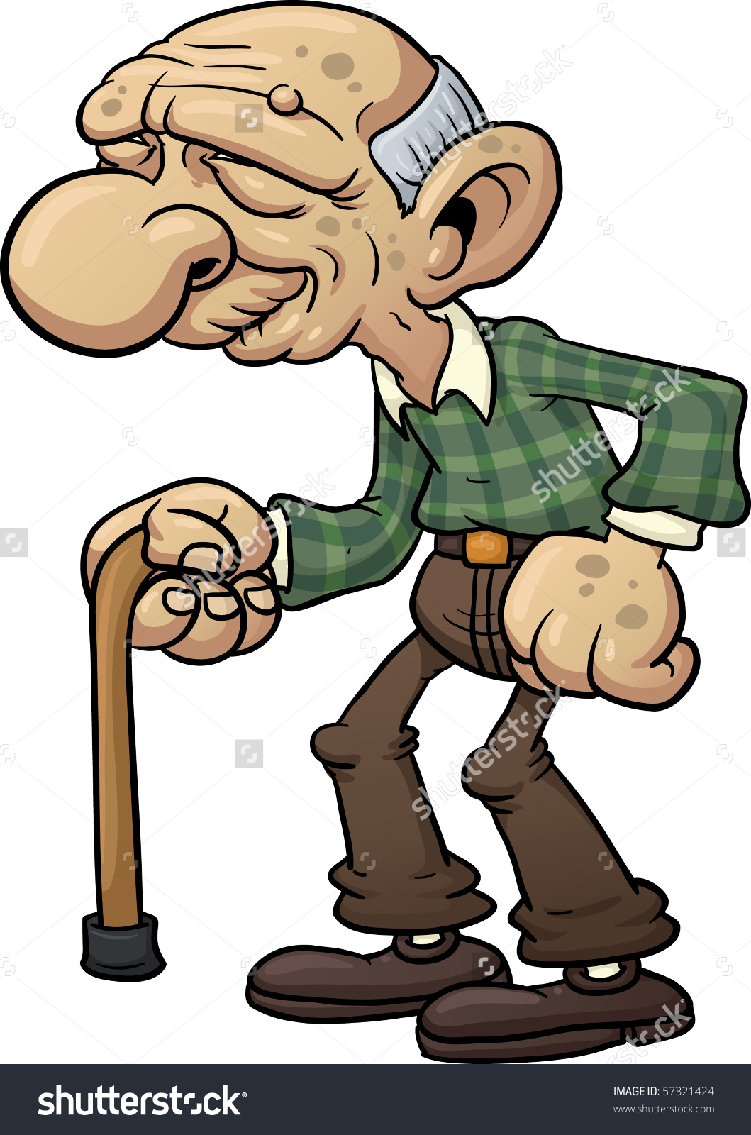 Collection Of Free Hunched Clipart Old Man #312998.