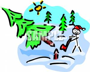Showing post & media for Cartoon christmas tree cutting guy.