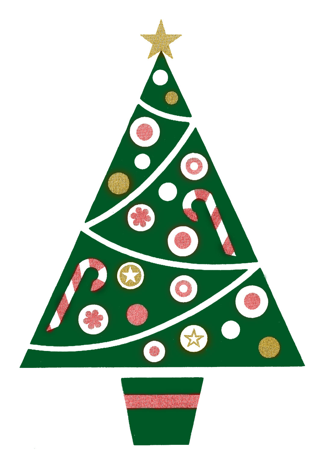 Clipart Old Man With Christmas Tree.