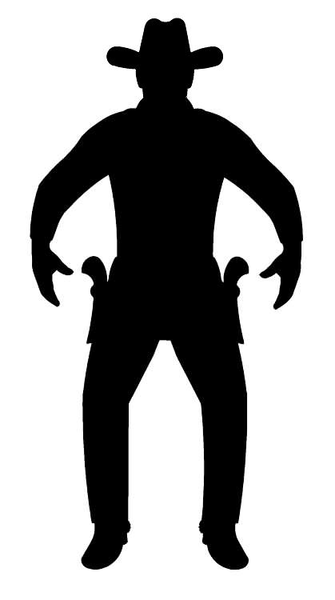 Old West Clipart Silhouette.