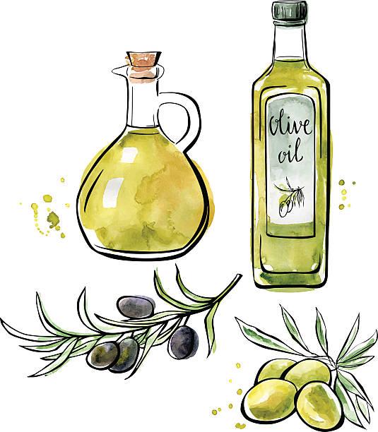 Best Olive Oil Illustrations, Royalty.