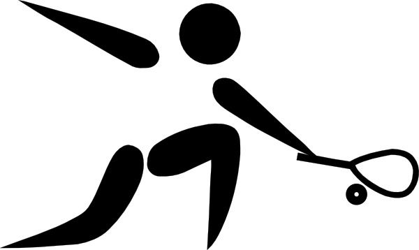 Olympic Sports Squash Pictogram clip art Free vector in Open.