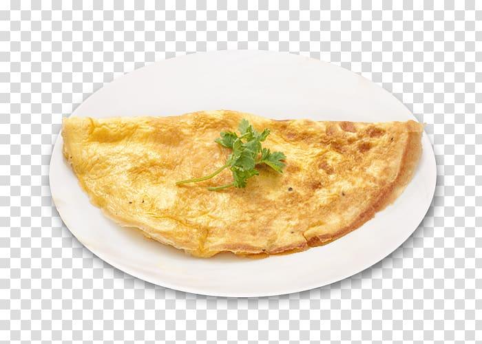 Round white ceramic plate, Omelette Vegetarian cuisine Pizza.