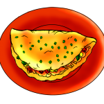 Omelette Clipart.