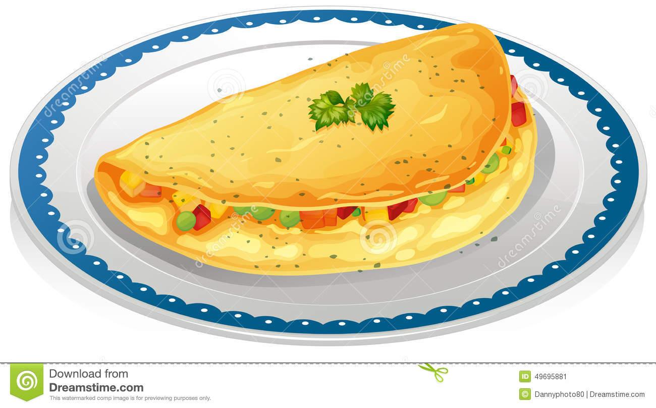 Omelette Breakfast Clipart.