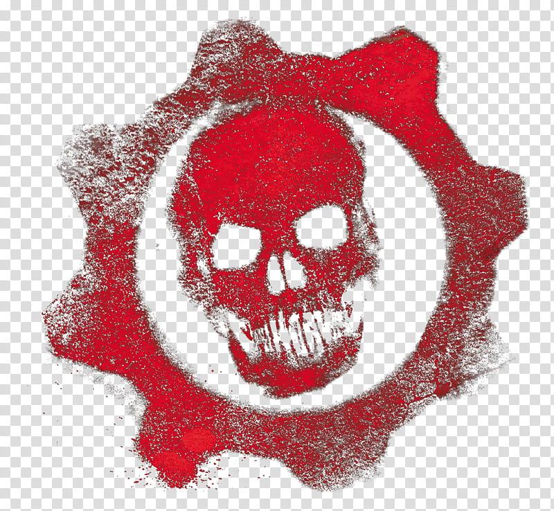 Gears of War Logo Crimson Omen, red skull transparent.