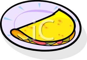 An omelet clip art image.\