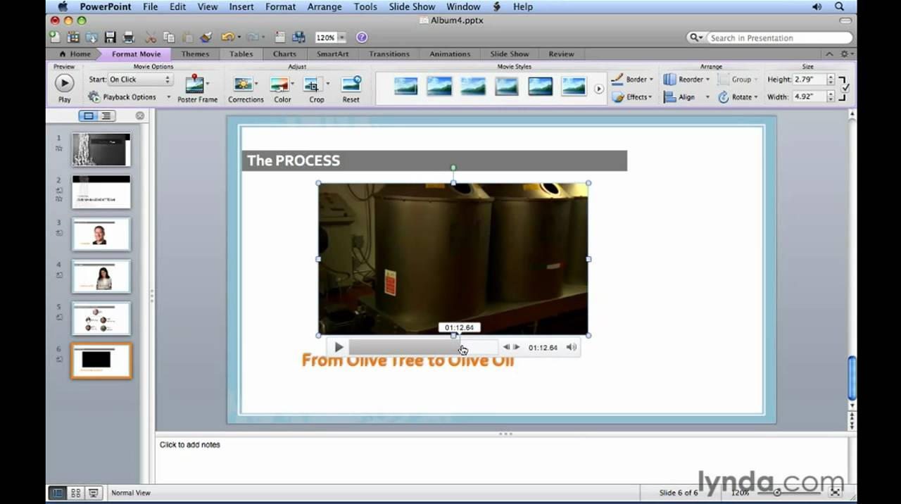 How to Embed a video in a slide in Microsoft PowerPoint Mac 2011.