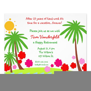 Free Clipart Retirement Invitations.