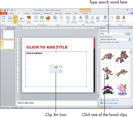 Clipart On Powerpoint 2016.