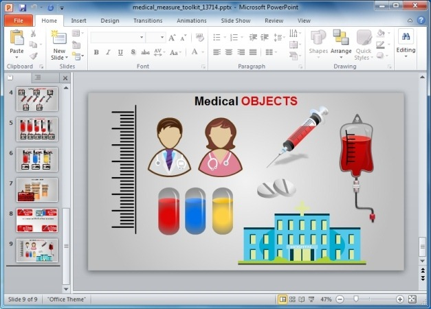 Medical PowerPoint Template With Animations And Clipart.