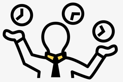 Free Time Management Clip Art with No Background.