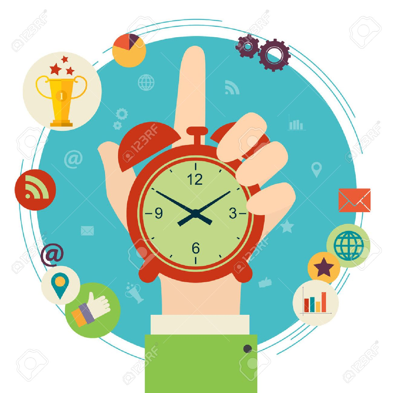11812 Time free clipart.