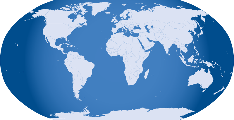 Free Clipart: Blue World Map.
