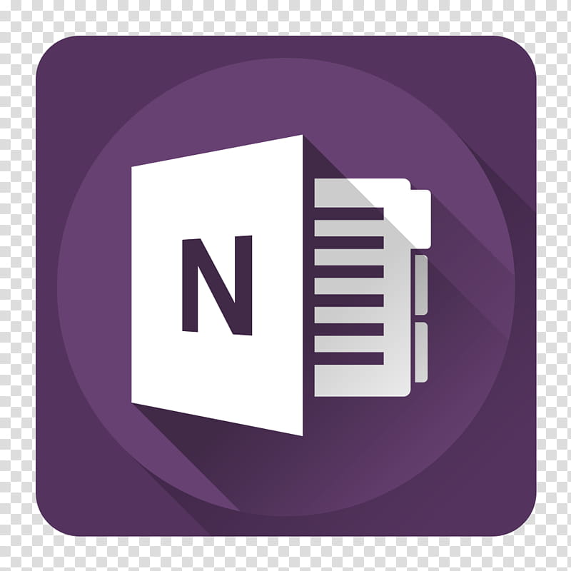 Shadow Microsoft Icons, OneNote transparent background PNG.
