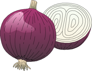 Onion cliparts.